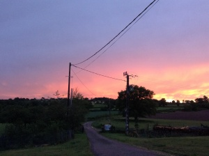 A farewell sunset
